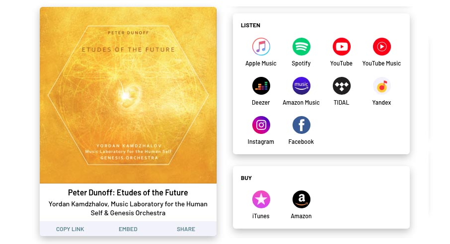 Listen online: Peter Dunoff: Etudes of the Future